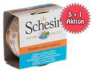 5+1 AKTION: Schesir in natürlicher Soße 70g Dose