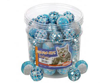 Blau-Weißer Glitzerball von Nobby 4cm