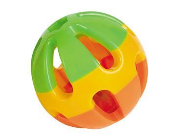 Dreifarbiger Ball mit Glöckchen 8cm von Nobby