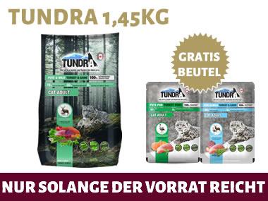 AKTION: Tundra 1,45Kg + 2x Frischebeutel GRATIS dazu
