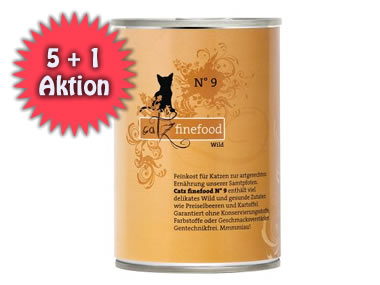 5+1 AKTION: Catz Finefood 400g Dose