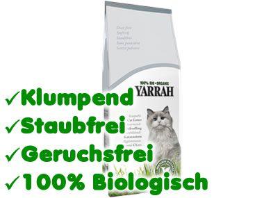 Yarrah Bio Katzenstreu: Klumpstreu 7Kg auf Ton-Basis