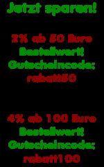 Jetzt 2 bis 4 Prozent sparen!